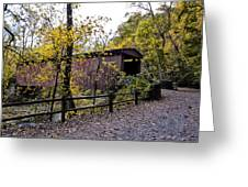 Thomas Mill Covered Bridge Over The Wissahickon Greeting Card