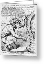 Thomas Paine Caricature Greeting Card by Photo Researchers