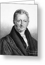 Thomas Robert Malthus Greeting Card