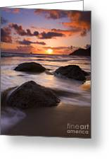 Three Against The Tide Greeting Card