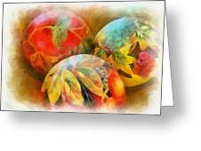 Three Balls - Watercolor Greeting Card