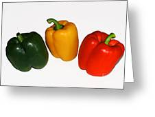 Three Bell Peppers Greeting Card