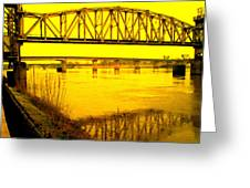 Three Bridges Greeting Card