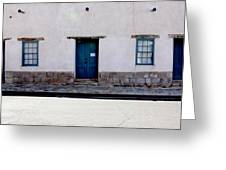 Three Doors And Two Windows Greeting Card
