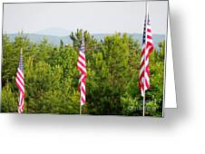 Three Flags And Kennesaw Mountain Greeting Card