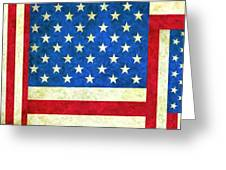 Three Flags Greeting Card