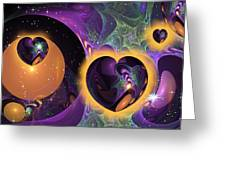 Three Hearts Greeting Card
