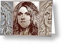 Three Interpretations Of Celine Dion Greeting Card