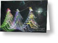 Three Kings Moon Star Greeting Card