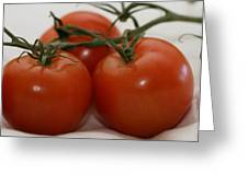 Three  Little Tomatoes Greeting Card