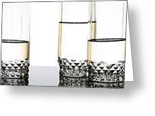 Three Luxury Glasses Greeting Card