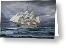 Three Masted Ship Greeting Card
