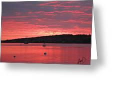 Three Master Sunrise Greeting Card