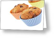 Three Muffins Greeting Card by Jane Rix