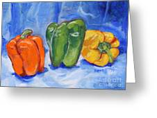 Three Peppers Greeting Card