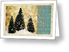 Three Trees Framed Greeting Card
