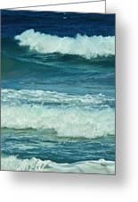 Three Waves Greeting Card