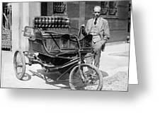 Three-wheel Automobile Greeting Card