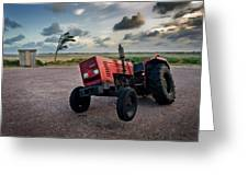 Three Wheeled Tractor Greeting Card