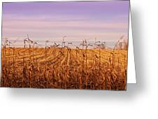 Through The Cornfield Greeting Card