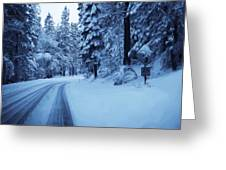 Through The Snow Greeting Card