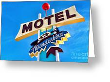 Thunderbird Motel Sign Greeting Card