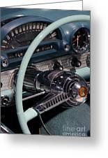 Thunderbird Steering Wheel Greeting Card
