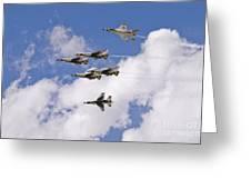 Thunderbirds Solos Break Greeting Card