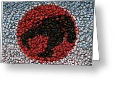 Thundercats Bottle Cap Mosaic Greeting Card by Paul Van Scott