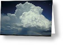 Thunderclouds And Rinbow Greeting Card