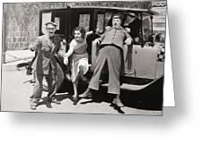 Thundering Taxi, 1933 Greeting Card