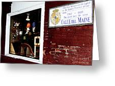 The Window On Calle Del Maine Greeting Card