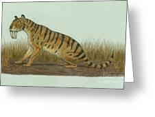 Thylacosmilus Atrox, A Genus Greeting Card