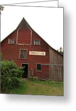 Tibbals Lake Red Barn Greeting Card
