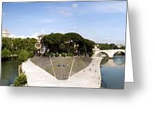 Tiber Island Greeting Card