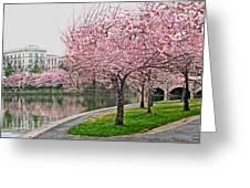 Tidal Basin Near Jefferson Memorial Greeting Card