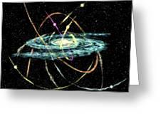 Tidal Disruption Of Dwarf Spheroidal Galaxies Greeting Card