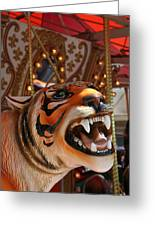 Tiger Merry Go Round Animal Greeting Card