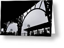 Tiger Stadium Silhouette Greeting Card