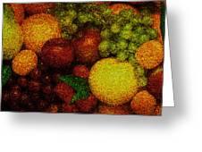 Tiled Fruit  Greeting Card