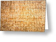 Tiled Wall Greeting Card