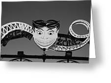 Tillie's Scream Zone In Black And White Greeting Card