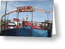 Tilt A Whirl Ride Greeting Card