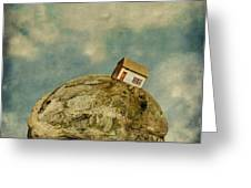 Tilted House Greeting Card