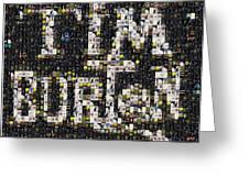 Tim Burton Poster Collection Mosaic Greeting Card