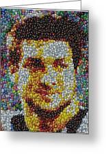 Tim Tebow Mms Mosaic Greeting Card by Paul Van Scott