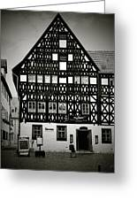 Timber-frame House Weimar Greeting Card by Christine Till