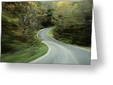 Time-exposed View Of Route 49 Taken Greeting Card