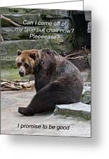 Time Out Bear Greeting Card