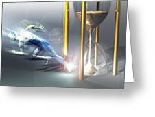 Time Travel, Conceptual Artwork Greeting Card